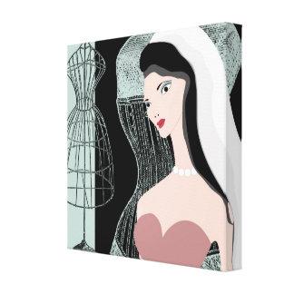 Vintage novia Jezebel v-2 lienzo Lona Envuelta Para Galerias