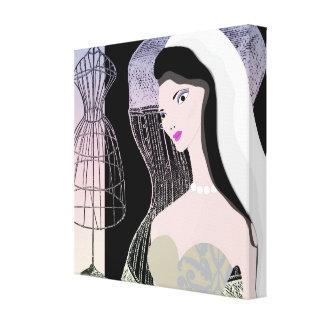 Vintage novia Jezebel v-3 lienzo Impresiones En Lona Estiradas