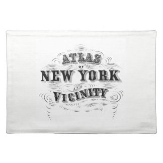 Vintage NYC Placemat Mantel