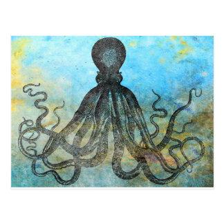 Vintage OctopusCollage Postal