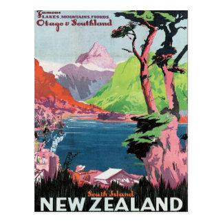 Vintage Otago Nueva Zelanda Postal