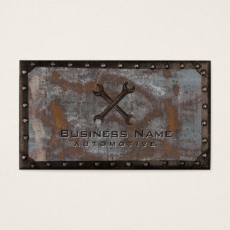 Vintage oxidado del metal del Grunge de la Tarjeta De Visita
