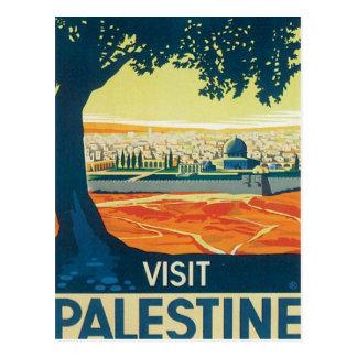 Vintage Palestina Oriente Medio Postal