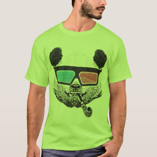 Vintage panda 3-D glasses Camiseta