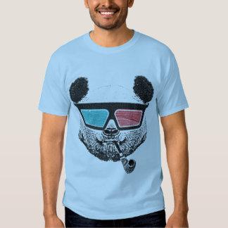Vintage panda 3-D glasses Camisetas