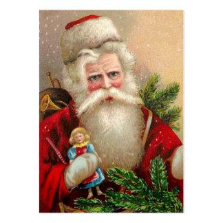 Vintage Papá Noel con la muñeca Tarjetas De Visita Grandes