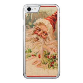 Vintage Papá Noel Funda Para iPhone 7 De Carved