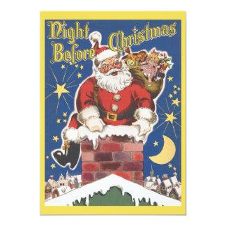 Vintage Papá Noel, invitación de la fiesta de