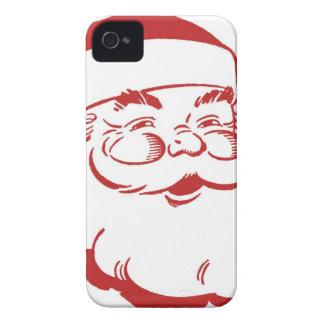 Vintage Papá Noel iPhone 4 Cárcasa
