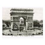Vintage París, Etoile, Arc de Triumphe Postal