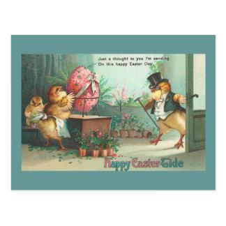 Vintage Pascua del polluelo del comprador del Postal