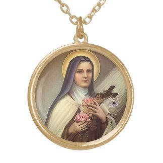 Vintage Pascua religiosa, monja con la cruz Colgante Redondo