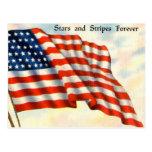 Vintage patriótico el 4 de julio tarjetas postales