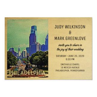 Vintage Philly de la invitación del boda de