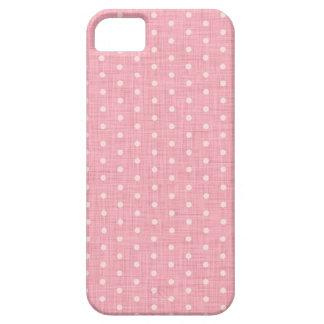 Vintage Polka dot fabric texture pattern Funda Para iPhone SE/5/5s