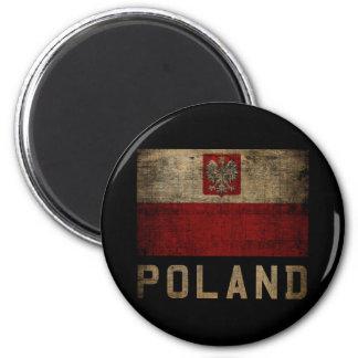 Vintage Polonia Imán Redondo 5 Cm