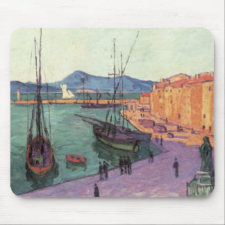Vintage Port de Saint Francia Alfombrilla De Ratón