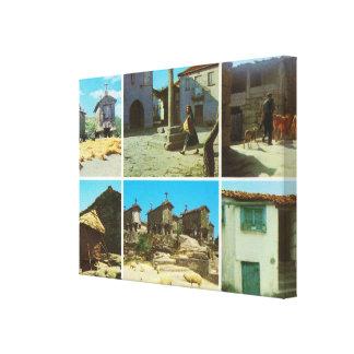 Vintage Portugal Serra del Soajo Impresiones En Lienzo Estiradas