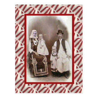 Vintage, postal, día 1894 del bautizo