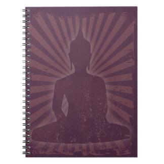 vintage púrpura Buda Libros De Apuntes Con Espiral