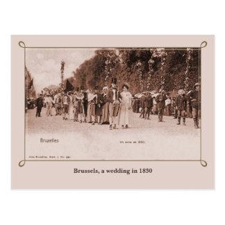 Vintage que casa en 1830 Bruselas Postal