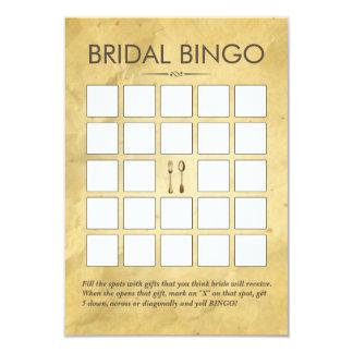 Vintage que cena tarjetas nupciales del bingo de invitación 8,9 x 12,7 cm