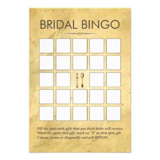 Vintage que cena tarjetas nupciales del bingo de l comunicados