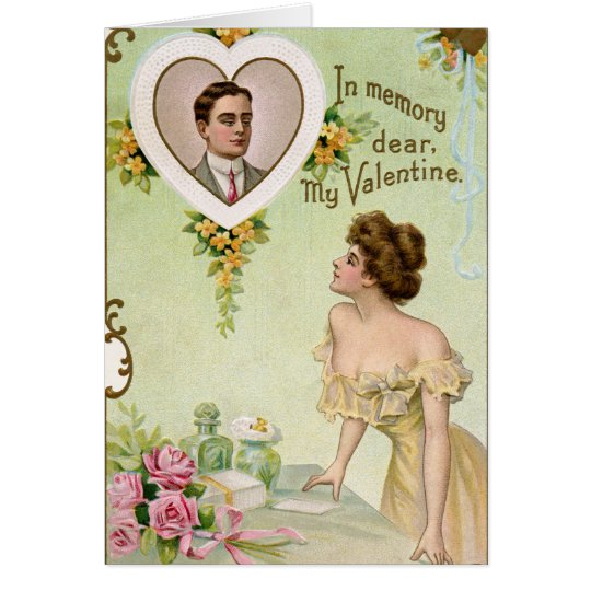 Vintage que le falta tarjeta de la tarjeta del día