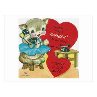 Vintage que llama a la tarjeta del día de San
