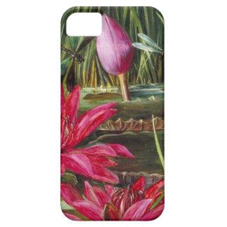 Vintage que pinta las flores rosadas de los flores iPhone 5 protector