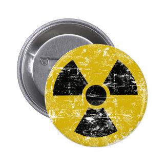 Vintage radiactivo chapa redonda de 5 cm