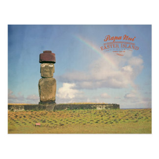 Vintage Rapa Nui (isla de pascua) Chile Postal