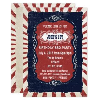 Vintage retro 4to de las invitaciones del invitación 12,7 x 17,8 cm