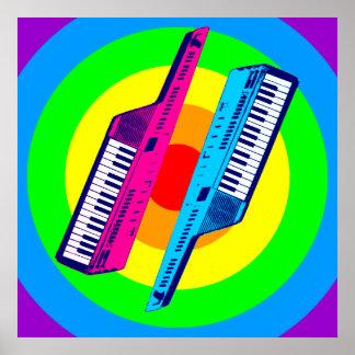 Vintage retro Keytar Synth del tigre 80s de Corey Impresiones