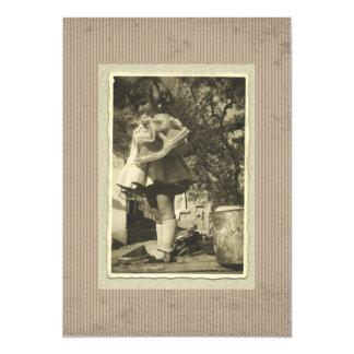 Vintage Rhotograph retro de la invitación