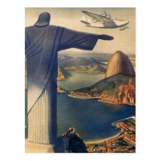 Vintage Río de Janeiro Cristo la estatua del rede Postal
