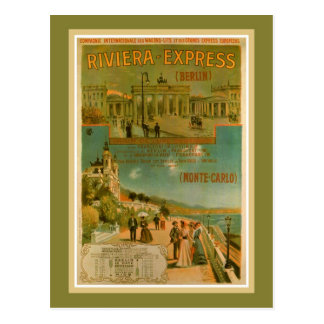 Vintage Riviera Berlín expresa Amsterdam Niza Postal
