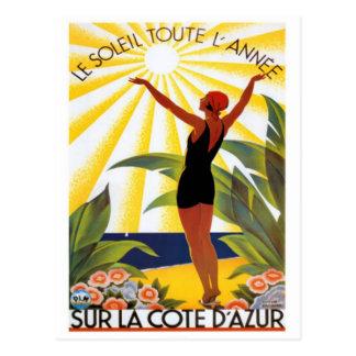 Vintage riviera francesa, Francia - Postal