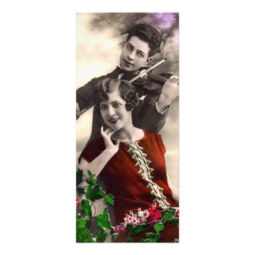 Vintage - romance del violín lonas publicitarias