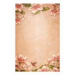 Vintage rosado de las azaleas floral en el boda de  papeleria