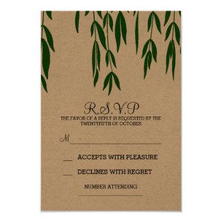 Vintage RSVP que se casa elegante de las ramas de Invitación 8,9 X 12,7 Cm