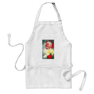 Vintage Santa con la vela Delantal