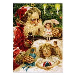 Vintage Santa con las muñecas Tarjetas De Visita