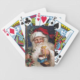 Vintage Santa con las tortas Cartas De Juego