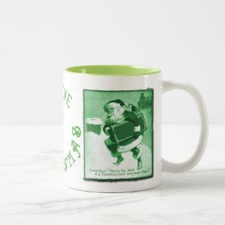 Vintage Santa con su taza del navidad del
