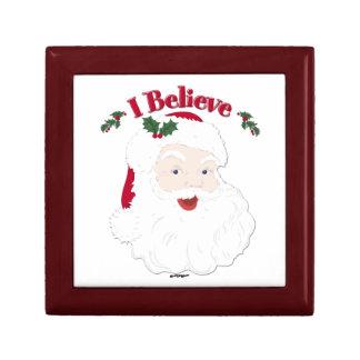 Vintage Santa creo navidad Joyero Cuadrado Pequeño