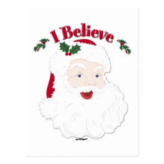 Vintage Santa creo navidad Postal