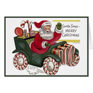 Vintage Santa del KRW en tarjeta del día de fiesta