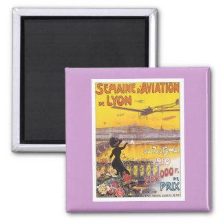 Vintage Semaine D'aviation Imán Cuadrado