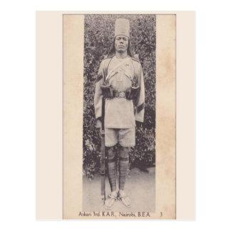 Vintage, soldado de la Commonwealth, Nairobi, Postal